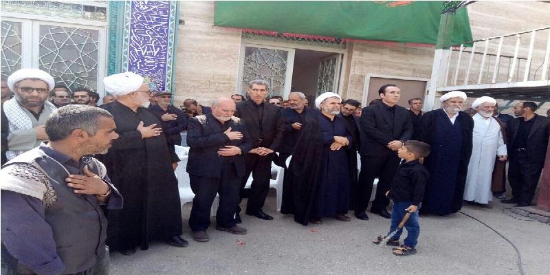 حضور دکتر محمدی در جمع عزاداران شهر سهرورد